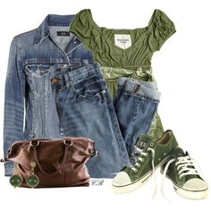 """""""Boyfriend Jeans & Converse"""" by colierollers on Polyvore"""