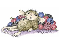 """Mudpie from House-Mouse Designs® featured on the The Daily Squeek® for January 13th, 2014. Click on the image to see it on a bunch of really """"Mice"""" products."""