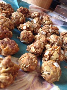 Home made horse treats! Recipe: 1.Set your oven to 350 2.Mix together 1cup of oatmeal, 1cup of flour, 1tsp sugar, 1tsp of salt.  Then add 1cup of shredded apples or carrots, 1/4 cup of olive oil, 1/4 cup of molasses or honey.  Put in oven for 15 minutes.  Let cool for 5minutes.