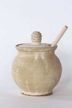 Ceramic honey pot Pottery honey jar Ceramic by PotteryFromTheFarm