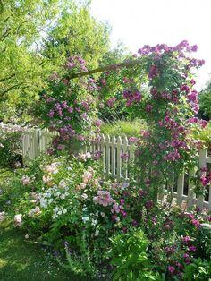 Cottage garden in full bloom Cottage garden in full bloom Kew Gardens, Farm Gardens, Amazing Gardens, Beautiful Gardens, Flower Fence, Cottage Garden Plants, Garden Buildings, Garden Fencing, Dream Garden