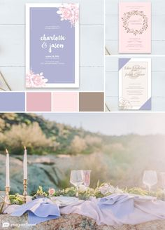 Periwinkle and Pink Wedding Color Combo Inspired by the Desert
