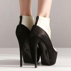 Classic Peep Toe Zippered Back High Heel Boots