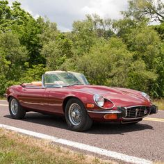 Car brand auctioned:Jaguar E-Type E-Type Series III Convertible 1973 Car model jaguar e type series iii convertible v 12 39 076 actual miles ac