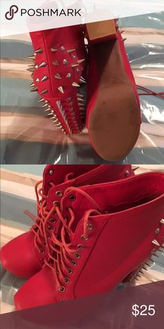 New Women's spiked heels The perfect dancing shoe with block heels Vintage Shoes Heeled Boots