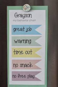 Toddler behavior chart- love it all except the lose a snack part, maybe I can make it more suitable for B