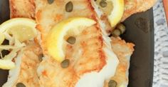 Crispy Cod with Lemon, Butter & White Wine Sauce