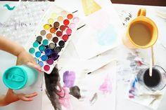 Watercolors + Coffee