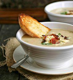 Roasted Cauliflower & Gruyere Soup | Hungry Couple