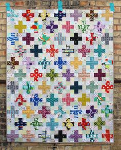 The Scrappy Plus Quilt Pattern is now an instant PDF download! Fun with low volume backgrounds.