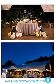 outdoor wedding reception with tents