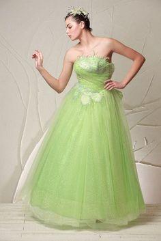 Green Ball Gown.Lovely
