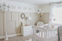Gender neutral Nursery Design... Add pops of color when baby is born