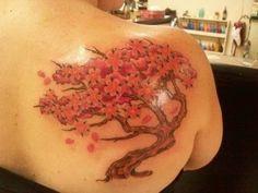 Flowers Tree On Back