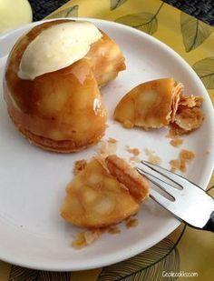 """C'est une recette qui fait son petit effet et qui est vraiment simple à réaliser. Concrètement ces dômes ont le """"vrai"""" goût de la tarte tatin, mais seul la forme change ! La recette des dômes tatins est celle de Michalak. Pour la pâte semi-feuilletée..."""
