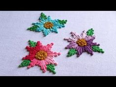 Hand Embroidery | Long and Short French knot Embroidery | Hand Embroidery Designs #31 - YouTube
