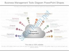 one business management tools diagram powerpoint shapes Slide01