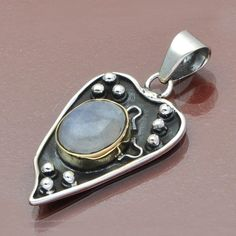 FANCY JEWELLERY 925 SOLID STERLING SILVER HOT MOONSTONE PENDANT 5.37g DJP6457 #Handmade #Pendant