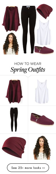 """ootd 24/09/15"" by crazymofoxd1 on Polyvore featuring H&M and TOMS"