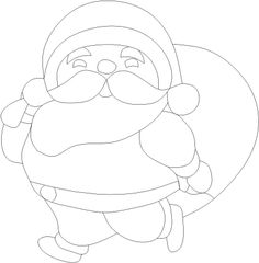 Chubby Little Santa by Linda Garman. Face features are meant to be done either with glass paint or overlay.