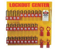 Lockout Station, 28 Padlocks - Recycled