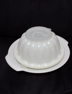 Vintage Tupperware Jello Mold, # 616, 4 piece by TeresaScholleDesigns on Etsy
