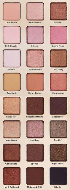 Makeup Palette Eyeshadows Too Faced Ideas For 2019 Treat YoSelf ✌ Make-up Palette Lidschatten zu Make Up Palette, Pretty Makeup, Love Makeup, Stunning Makeup, Makeup Kit, Makeup Geek, Sleek Makeup, Makeup Ideas, Skin Makeup