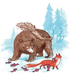 Bear wasn't always grumpy. we have fox to blame for that Portfolio Images, Love Bear, Retro Toys, Woodland Animals, New Artists, Graphic Design Illustration, Childrens Books, Illustrators, Beast