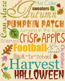 The Nelsons: Free Fall Printable