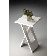 Butler Hammond White Folding Table (White)