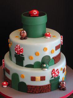 Super Mario Brothers Birthday Cake