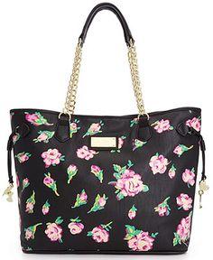 Betsey Johnson Chain Tote - Handbags & Accessories, do you like? Coach Handbags Outlet, Coach Purses, Tote Handbags, Purses And Handbags, Radley Handbags, Leather Handbags, Betsy Johnson Purses, Betsey Johnson Handbags, Unique Purses