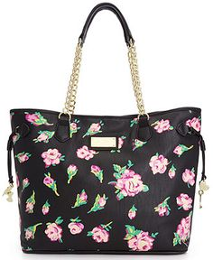 Betsey Johnson Chain Tote - Tote Bags - Handbags & Accessories - Macy's