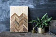 Navajo Tribal Geometric Wood Patterned Wall Panel Art with Angetenar Pattern | Made on Hatch.co