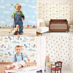 Papel pintado para la primera habitación de tu bebé