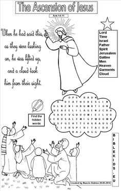 word search for Ascension of Jesus - Google Search