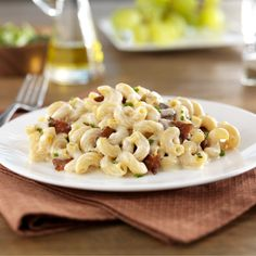 Barilla Gluten Free Elbows with Fontina Mac and Cheese, with Bacon and Chives.