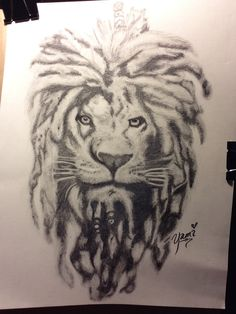 Lion with dreads tattoo drawings - photo#8