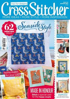 The August issue of Cross Stitcher is on sale now.  Gulls just want to have fun! We know you're going to love stitching our jaunty seagull cushion cover project for August – just the thing for adding some seaside style to your home.  There are more sunny makes in the issue, from our bright sunflower pattern cushion to our quick and easy lolly card for a friend. Plus this month's free gift is a cute vintage-style caravan pincushion – your kit includes everything you need to stitch it! Get…