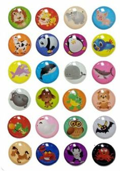 Red Rock 3D Semi-circular Colorful 24 Pieces Goofy Zoo Animals Lion Tiger Elephant Pig Cow Panda Penguine Bird Whale Shark Fat Cat Dog Turtle Bear Crocodile Owl Chicken Bat Horse Crab Monkey Octopus Bubble Home Button Stickers for iPhone 5 4/4s 3GS 3G, iPad 2, iPad Mini, iTouch by Red Rock. $5.99. 24 peices Goofy Animals Bubble Home Buttons. Great for iPhone 5 4/4s 3GS 3G iPad iTouch. 3 Dimensional Semi-Circular Feel. Self Adhesive easy to install stickers. Cute Colorful Zoo A...