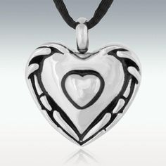Loves Embrace Heart Stainless Steel Cremation Jewelry-Engravable Pet Cremation, Cremation Jewelry, Memorial Jewelry, Tiffany Jewelry, Glass Domes, Silver Pendant Necklace, Indian Jewelry, Stainless Steel, Pendants