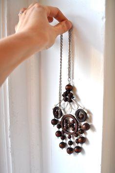 AARIKKA of Finland Kinetic brown wood pendant necklace. About: Kaija Aarikka was… Ball Necklace, Pendant Necklace, Etsy Vintage, Vintage Shops, Jewel Box, Brown Wood, Vintage Jewellery, Wooden Beads, Textile Design