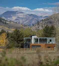 Modern home was designed by Chris Pardo Design: Elemental Architecture