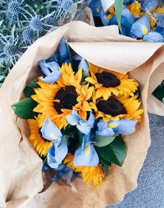 simply beautiful flowers and events houston My Flower, Wild Flowers, Beautiful Flowers, Bouquet Flowers, Iris Bouquet, Sunflower Flower, Blue Bouquet, Flowers Nature, Fresh Flowers