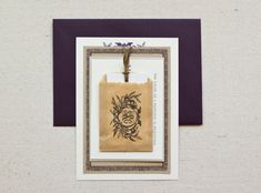 DIY Tutorial: Kraft Paper Rubber Stamp Wedding Invitations by Antiquaria via Oh So Beautiful Paper