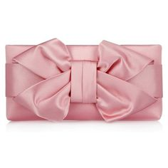 Valentino Bow silk-satin clutch ❤ liked on Polyvore featuring bags, handbags, clutches, bow handbags, red clutches, red bow purse, red handbags and bow purse