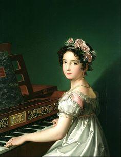 Manuela Playing the Piano (Manuela tocando el piano), 1820, by Zacarías González Velázquez.