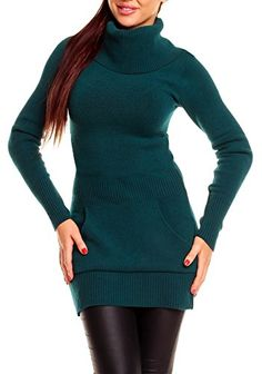 6947a2b57f9 Sweater Dresses · Glamour Empire Women s Turtleneck Long Sleeve Knitted  Tunic Top Jumper 191 Glamour Empire http