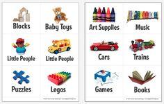 Printable Toy Bin Labels