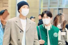 Chanyeol & Suho [HQ] 191010 Incheon Airport, Departing for Fukuoka Park Chanyeol, Baekhyun, The Man Who Laughs, Exo Couple, Kim Junmyeon, Xiu Min, Exo Members, Fukuoka, Airport Style